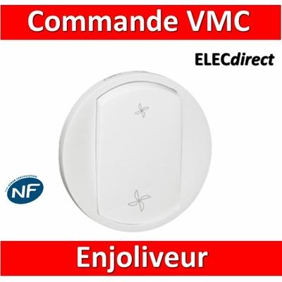 Legrand Céliane - Enjoliveur blanc pour commande  VMC - 068061