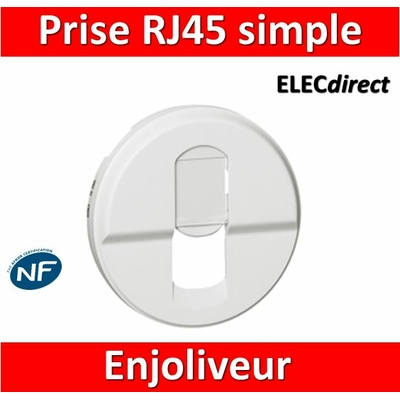 Legrand Céliane - Enjoliveur RJ45 blanc - 068251