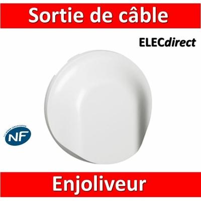 Legrand Céliane - Enjoliveur Sortie de câble blanc - 068141
