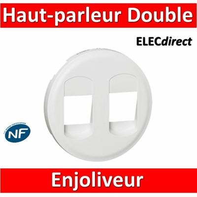 Legrand Céliane - Enjoliveur Double Prise Haut-parleur blanc - 068212