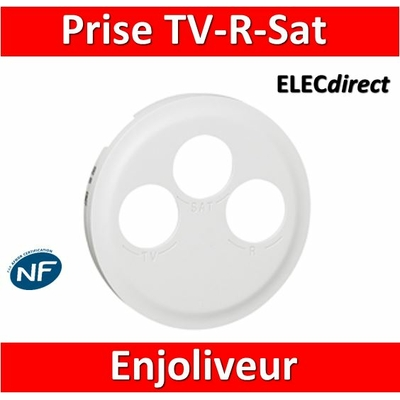 Legrand Céliane - Enjoliveur TV-R-Sat blanc - 068285