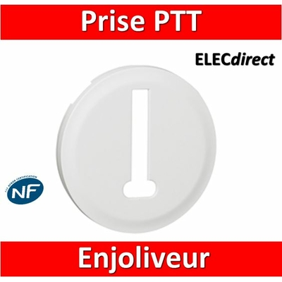 Legrand Céliane - Enjoliveur PTT blanc - 068238