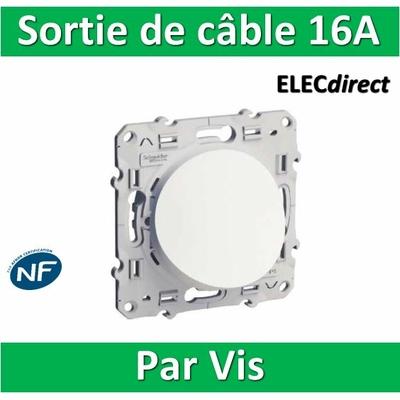Schneider Odace - Sortie de câble - Fixation VIS - s520662