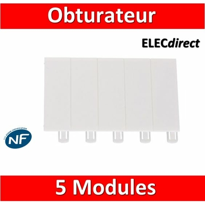 Legrand - Obturateur 5 modules - 001660