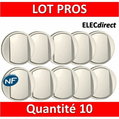 Legrand Céliane - Enjoliveur LOT PROS - Simple allumage blanc - 068001x10