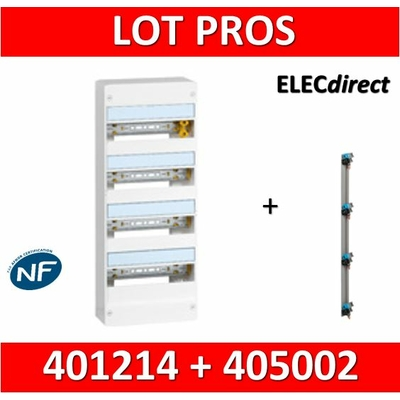 Legrand - LOT PROS - Coffret DRIVIA 52 Modules + peigne vertical - 401214+405002