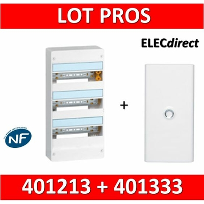 Legrand - LOT PROS - Coffret DRIVIA 39 Modules + porte - 401213+401333