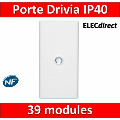 Legrand - Porte Blanche pour tableau DRIVIA - 39 Modules 3 Rangées - 401333