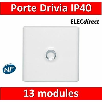 Legrand - Porte Blanche pour tableau DRIVIA - 13 Modules 1 Rangée - 401331