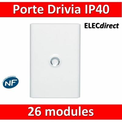 Legrand - Porte Blanche pour tableau DRIVIA - 26 Modules 2 Rangées - 401332