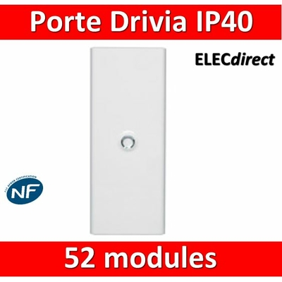 Legrand - Porte Blanche pour tableau DRIVIA - 52 Modules 4 Rangées - 401334