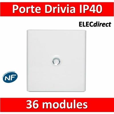 Legrand - Porte Blanche pour tableau DRIVIA - 36 Modules 2 Rangées - 401232