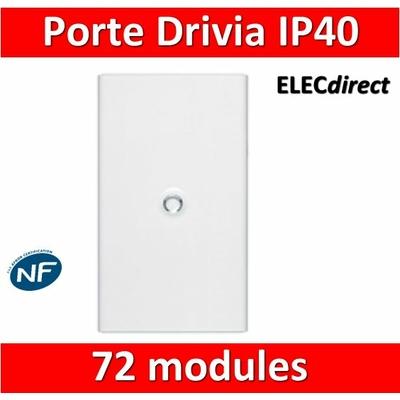 Legrand - Porte Blanche pour tableau DRIVIA - 72 Modules 4 Rangées - 401234