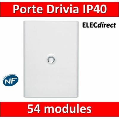 Legrand - Porte Blanche pour tableau DRIVIA - 54 Modules 3 Rangées - 401233