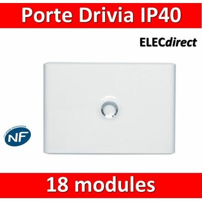 Legrand - Porte Blanche pour tableau DRIVIA - 18 Modules 1 Rangée - 401231
