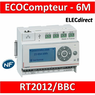 Legrand - Ecocompteur - 110-230 V~ - 6 modules - 412000