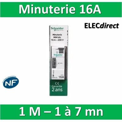 Schneider - Minuterie électronique MIN'Clic 230V - 16A - sch16655