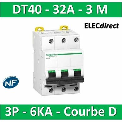 Schneider DT40 - Disjoncteur 3P - 32A - 6kA - courbe D - A9N21058