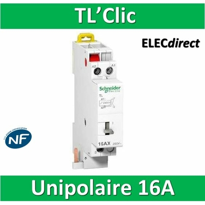 Schneider - Télérupteur TL'clic - Unipolaire 16A - 250V - 16406