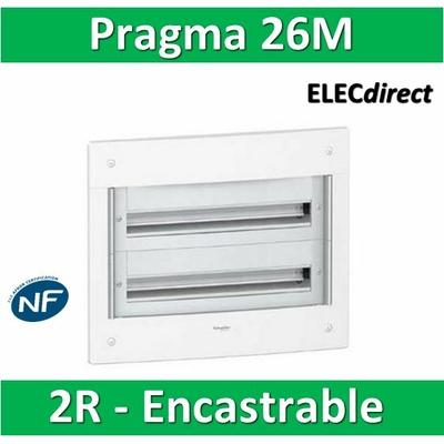 Schneider - Coffret électrique PRAGMA - encastré - 26 modules - 2 rangées de 13M - PRA32213