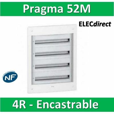 Schneider - Coffret électrique PRAGMA - encastré - 52 modules - 4 rangées de 13M - PRA32413