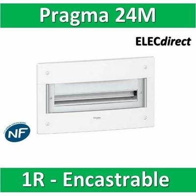 Schneider - Coffret électrique PRAGMA - encastré - 24 modules - 1 rangée de 24M - PRA22124W