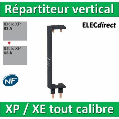 Schneider - Répartiteur vertical XE / XP Dif. 63A à Dif. 63A - pour coffret Pragma - 14911