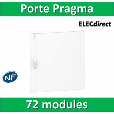 Schneider - Porte opaque blanche coffret PRAGMA IP40/IK09 - 4 rangées de 18 modules - PRA16418