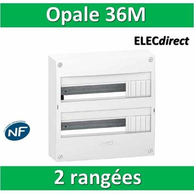 Schneider - Coffret électrique Opale 36 modules - 2 rangées de 18M - OPL18402