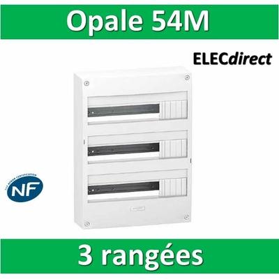 Schneider - Coffret électrique Opale 54 modules - 3 rangées de 18M - OPL18403