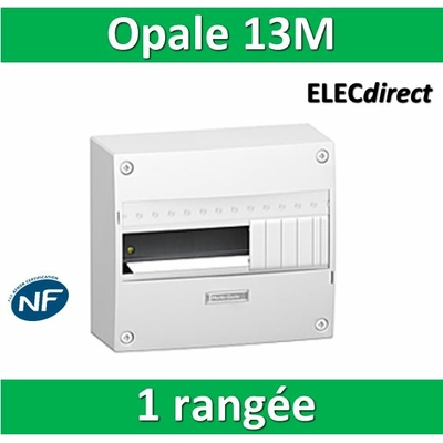 Schneider - Coffret électrique Opale 13 modules - 1 rangée de 13 modules - 13401