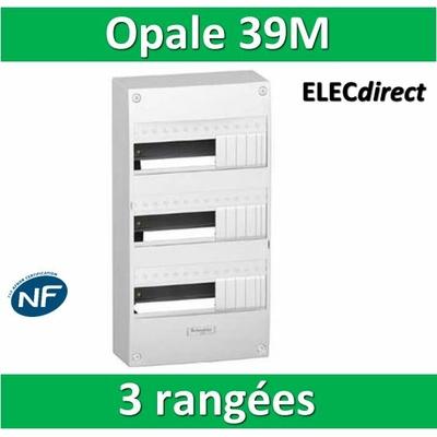 Schneider - Coffret électrique Opale 39 modules - 3 rangées de 13M - 13403