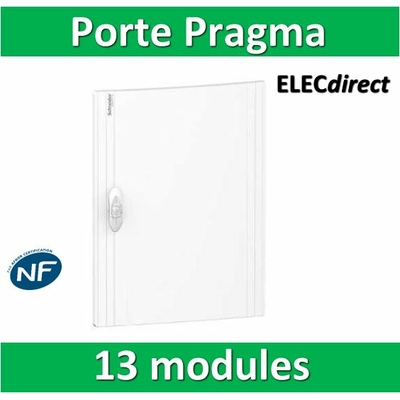 Schneider - Porte opaque blanche coffret PRAGMA IP40/IK09 - 1 rangée de 13 modules - 13M - PRA16113
