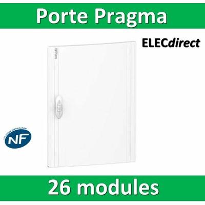 Schneider - Porte opaque blanche coffret PRAGMA IP40/IK09 - 2 rangées  de 13 modules - 26M - PRA16213