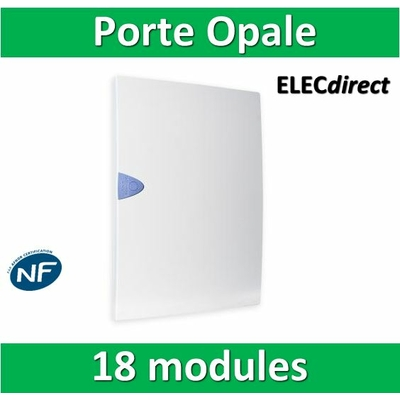 Schneider - Porte Opaque blanche - 18 modules - OPL18421