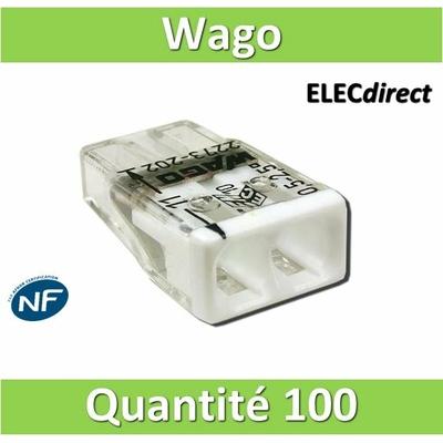 WAGO - Boîte de 100 Bornes auto fils rigide 2 x 2,5mm2 - WAG 2273-202