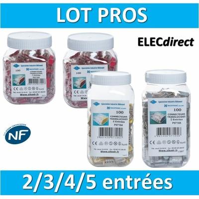 SIB - LOT PROS - 1 Boîte 2 entrées - 1 boîte 3 entrées - 1 boîte 4 entrées - 1 boîte 5 entrées