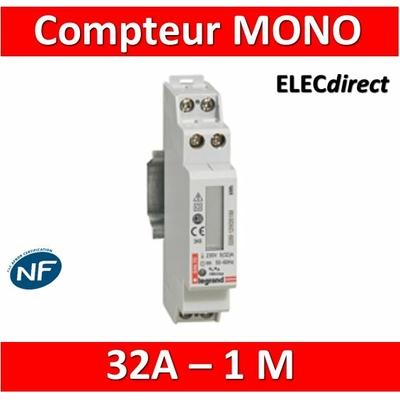 Legrand - Compteur d'énergie MONO EMDX3 - 32A - 004670