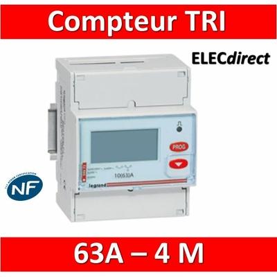 Legrand - Compteur d'énergie TRI EMDX3 - 63A - 004673