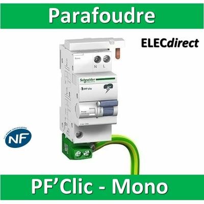 Schneider - Parafoudre bipolaire PF'clic NF PH+N 10KA - 16614