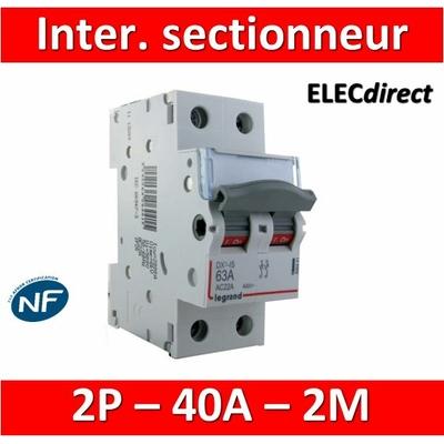 Legrand - DX3 Interrupteur-sectionneur Bipolaire - 40A - 406440