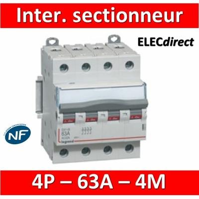Legrand - DX3 Interrupteur-sectionneur tétrapolaire 63A - 406481