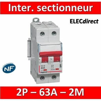 Legrand - DX3 Interrupteur-sectionneur à déclenchement Bipolaire - 63A - 406528