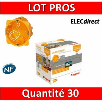 Legrand Batibox - LOT PROS - Boîte d'encastrement 1 poste - Prof. 40 - 080041 x30