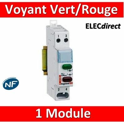 Legrand - Voyant Vert/rouge 250V - 004488 - ancien modèle