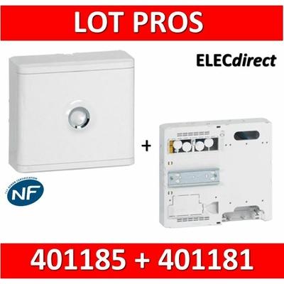 Legrand - LOT PROS - Platine pour Disjoncteur branchement + Compteur - DRIVIA 13M + habillage + porte - 401181+401185