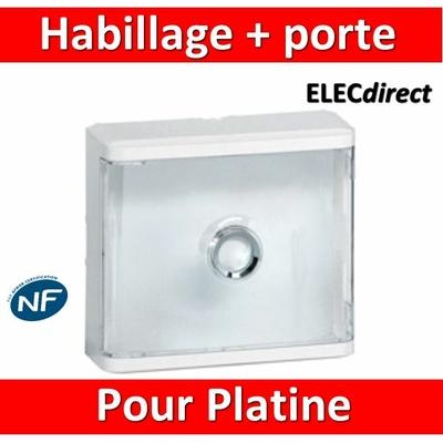Legrand - Habillage + porte transparente pour platines de branchement Drivia - 401188
