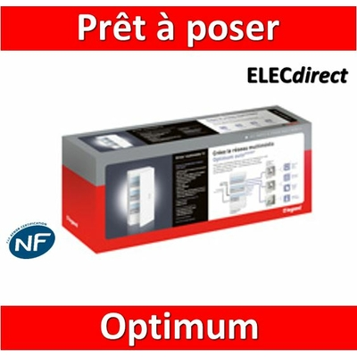 Legrand - Prêt à poser Optimum autoGigabit Drivia 13 modules - 413224