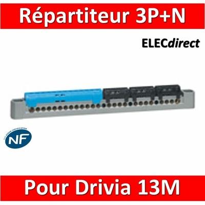Legrand - Répartireur 3P+N - Drivia 13M - L. 227mm - 404814