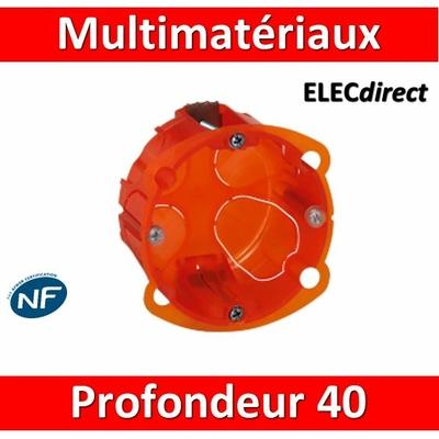 Legrand Batibox - Boîte multimatériaux 1 poste profondeur 40 mm - 080101